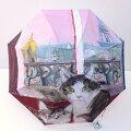 Manhattaner'sマンハッタナーズ長傘「ピンク色のパリの夕暮れ」【楽ギフ_包装】