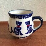 ポーランド陶器マグカップ猫