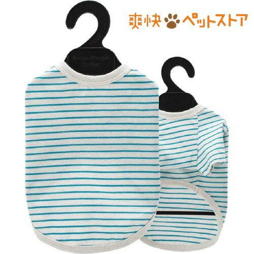 ベリー コットンTシャツ D4号 ボーダー サックス(1枚入)[爽快ペットストア]