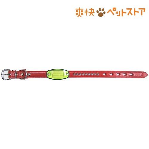鑑札入付強力平首輪 レッド #21(1コ入)[爽快ペットストア]