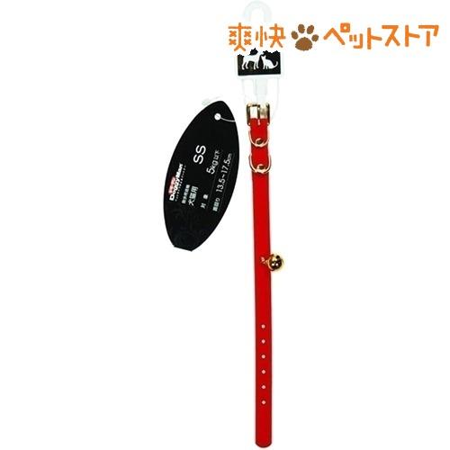 ドギーマン ベルベット首輪 S 犬猫用 レッド MD6091(1コ入)【ドギーマン(Doggy Man)】[爽快ペットストア]