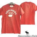 アバクロ AbercrombieFitch アバクロンビー&フィッチ メンズ 半袖 ビンテージ ダメージ Tシャツ ウォッシュレッド アメカジ ブランド ファッション インポート カジュアル ヴィンテージ スタイル 正規 商品 077