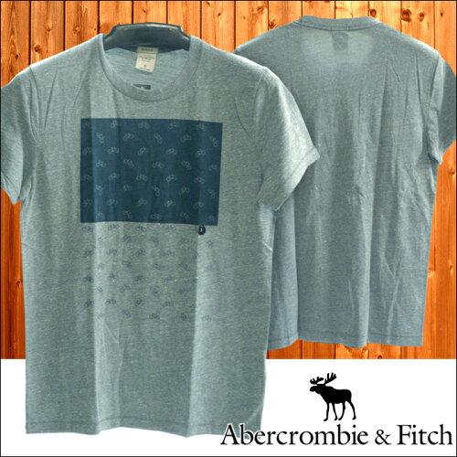 アバクロ Abercrombie&Fitch アバクロンビー&フィッチ メンズ 半袖 Tシャツ BIKES グレー インポ...