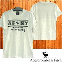 アバクロAbercrombie&Fitchアバクロンビー&フィッチメンズ半袖TシャツAFNYホワイトアメカジブランドファッションインポートカジュアルヴィンテージスタイル正規商品066