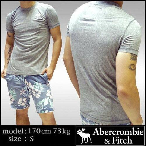 アバクロ Abercrombie&Fitch アバクロンビー&フィッチ メンズ Tシャツ グレー インポート ブラン...