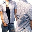 アバクロ Abercrombie&Fitch アバクロンビー&フィッチ レディース 半袖 ボタンシャツ ストライプ ライトブルー シャツ アメカジ ブランド ファッション インポート カジュアル ヴィンテージ スタイル 正規 商品