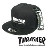 スラッシャーTHRASHERメンズレディース兼用スナップバックキャップMAGLOGOブラックホワイトキャップ帽子スケーターインポートストリートスタイルブランドHIPHOPウェアーB系アメカジヒップホップファッション正規