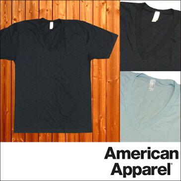 【セール】 アメリカンアパレル メンズ Vネック Tシャツ 半袖 American Apparel アメアパ トップス シャツ インポート ファッション ブランド ストリート サーフ アメリカン カジュアル アメカジ スタイル 正規 商品
