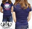 ジューシークチュール レディース Tシャツ ネイビー JUICY COUTURE インポート LAセレブ パリスヒルトン ファッション 海外セレブ 多数着用 ハリウッド セレブ LAカジュアル アメカジ セレカジ 正規品 ROCK ロック スタイル ブランド