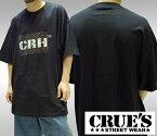 クルーズウェア メンズ Tシャツ モノグラム CRH ロゴ ブラック CRUE'S WEAR ストリート スタイル HIPHOP ウェアー B系 服 ダンス ヒップホップ 西海岸 ウエストコースト ファッション カジュアル ブランド ウェア オーバーサイズ 大きいサイズ セール 2L 3L 4L 5L