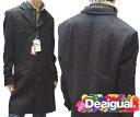 デシグアル Desigual メンズ メンズ ロング コート ジャケット ブラック 37E1931 2007 アウター スペイン セレカジ ヨーロピアン ファッション インポート ブランド アメカジ セレブ カジュアル スタイル 正規