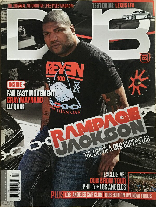 雑誌, 車・バイク  US 2011 MAYJUNE DUB Magazine USA Quinton Rampage Jackson