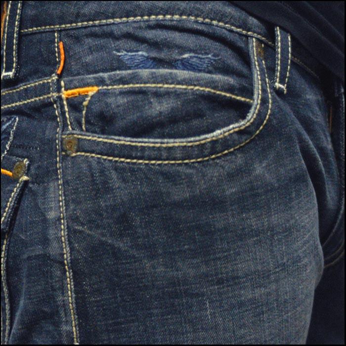 ロビンズジーン メンズ デニム ローライズ ストレート パンツ ROBIN'S JEAN Long Flap 166 safari サファリ LEON レオン オーシャンズ 雑誌 掲載 ハイブランド ジーンズ ブランド ロビンズジーンズ セレブ ファッション ロビンジーンズ ストリート カジュアル