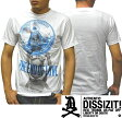 【セール】 ディスイズイット メンズ Tシャツ ホワイト ブルー DISSIZIT END OF LOVE LA インポート ストリート スタイル ロサンゼルス カジュアル ブランド HIPHOP ウェアー B系 服 ダンス ウェア アメカジ ヒップホップ ファッション