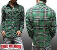 トゥルーレリジョン メンズ TRUE RELIGION 長袖 シャツ グリーン ネルシャツ セレブ 愛用 ブランド ファッション アメカジ インポート カジュアル ヴィンテージ スタイル 正規 商品