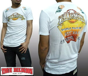 トゥルーレリジョン メンズ TRUE RELIGION Tシャツ ROSE BOWL ホワイト tシャツ 半袖 シャツ セレブ 愛用 ブランド ファッション アメカジ インポート カジュアル ヴィンテージ スタイル 正規 商品