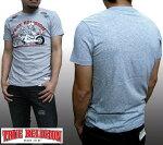 トゥルーレリジョンメンズTRUERELIGIONTシャツBIKE&ROSESへザーグレーtシャツ半袖シャツセレブ愛用ブランドファッションアメカジインポートカジュアルヴィンテージスタイル正規商品