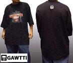 ガッティー メンズ Tシャツ ブラック GAWTTI ガウティ Boo Yaa T.R.I.B.E ブーヤー トライブ ストリート スタイル HIPHOP ウェアー B系 服 ヒップホップ ダンス 西海岸 ウエストコースト ファッション LA カジュアル ブランド ウェア 大きいサイズ セール 2L 2XL 3L 3XL 4L