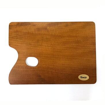 油絵用 木製パレット(桜材)4号 角型