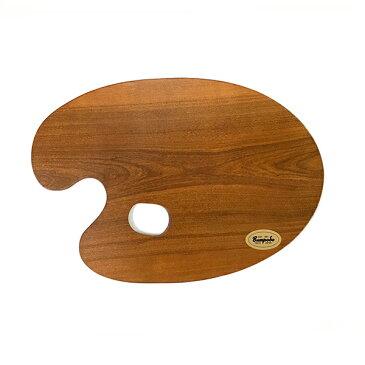 油絵用 木製パレット(桜材)4号 丸型