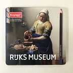 【あす楽対応】アムステルダム国立美術館(RIJKS MUSEUM)コラボレーション 名画シリーズフェルメール「牛乳を注ぐ女」色鉛筆24色セット