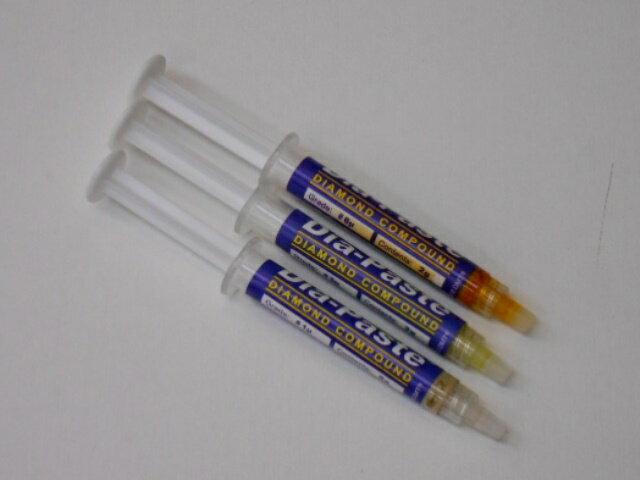 ダイアペースト ダイヤモンドペースト 1・3・6ミクロン 3点セット アメリカ製 Dia-Paste ダイヤモンドコンパウンド 研磨剤