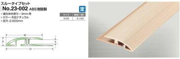 竹タイルカーペット専用見切りアシスト23-002 スルーセットタイプ