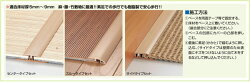 竹タイルカーペット専用見切りアシスト23-002スルーセットタイプ
