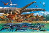 ジグソーパズル 150ラージピース 恐竜大きさくらべ・ワールド 26x38cm L74-167