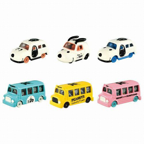3月21日発売予定 トミカ PEANUTS 生誕70周年記念 ドリームトミカコレクション BOX (1BOX6個入り)