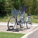 【送料無料】自転車スタンド 2台用 BYS-2 ブラック[自転車 置き場 サイクル ガレージ サイクルポート 自転車置き場 バイク置き場 自転車収納 バイク収納 玄関 サイクルガレージ アイリスオーヤマ]