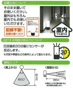 電池式ガーデンセンサーライトZSL-SEWブラック/ホワイト【アイリスオーヤマ】【送料無料】【SBZcou1208】