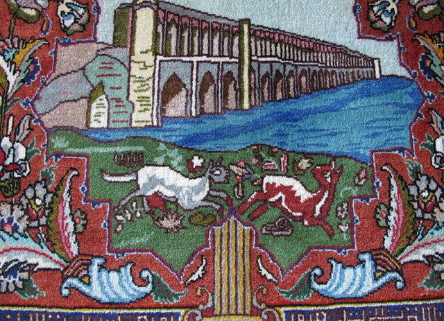 オリエンタルムーン『ペルシャ絨毯・タブリーズ(FS-4047)』