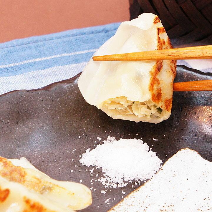 大阪王将『鶏しそ餃子(特製赤穂の塩付き)』