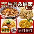 【送料無料】≪吉野家×大阪王将≫牛丼&炒飯セット 牛丼/餃子/炒飯