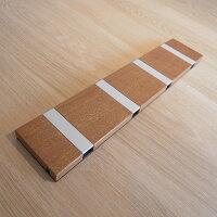 Loca KNAX ホリゾンタルコートフック マホガニー材ラッカー仕上・4フック(グレイ)1番・無垢材・天然木