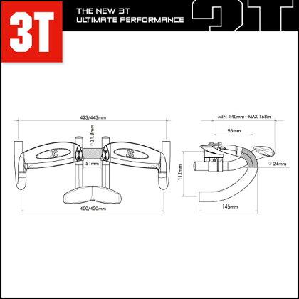 3TZEFIROLTD【エアロバー】【TT・トライアスロン用】【UCI基準対応】【スリーティー】【クランプ計:31.8mm】