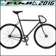 【フジ FEATHER】 フェザー 2016年モデル マットブラック 43【ピストバイク】【運動/健康/美容】