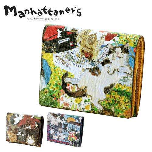 マンハッタナーズ manhattaner's 二つ折財布 折財布 ミニ財布 【ライブリーパース】 レディース [通販] 【ポイント10倍】 【送料無料】