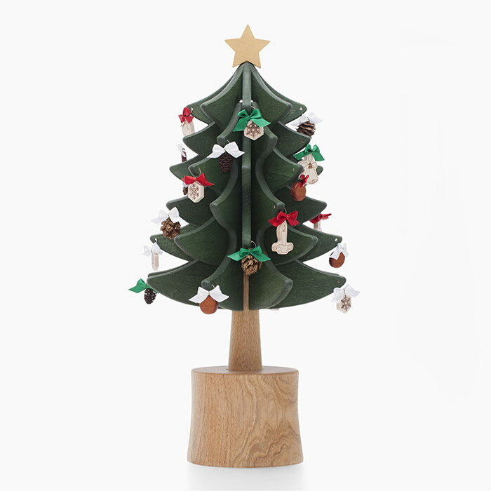 オルゴールツリー スタンダード(グリーン)【木製】【日本製】【クリスマスツリー】【オルゴール】 【飛騨高山  オークヴィレッジ・Oak 【送料無料※北海道・沖縄・離島は除く】
