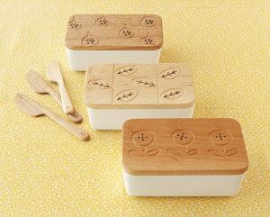 使うごとに味わい深くなってゆく木製のバターケース【オークヴィレッジ・Oak Village】MOTTAINA...