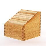 ステップアップボックス(ナチュラル/ブラウン)【日本製】【木製】【ポストカード】【カード立て】 【飛騨高山 オークヴィレッジ・Oak Village】