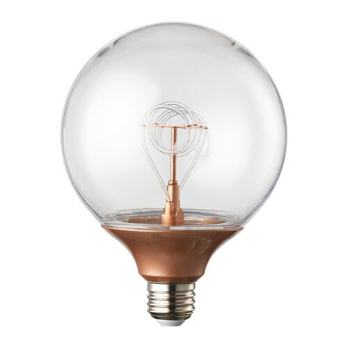 IKEA NITTIO イケア LED電球 E26 球形 コッパーカラー 003.226.75