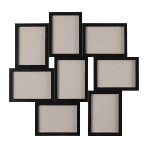 IKEA VÄXBO イケア コラージュフレーム 写真8枚用,ブラック 写真立て フォトフレーム 203.529.11