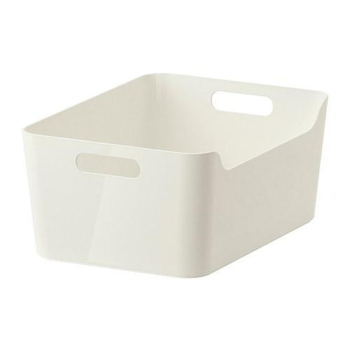IKEA VARIERA イケア ヴァリエラ ボックス, ホワイト Lサイズ 34x24cm 501.772.56