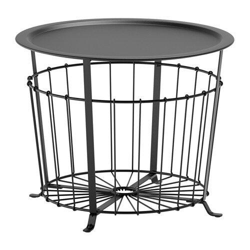 IKEA GUALÖV イケア 収納テーブル, ブラック 503.403.80