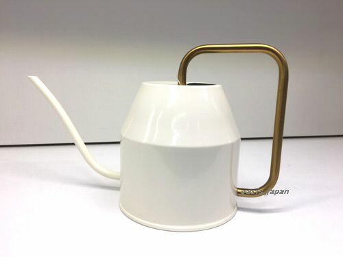 【新商品】IKEA VATTENKRASSE ヴァッテンクラッセ じょうろ, アイボリー, ゴールドカラー 903.941.54