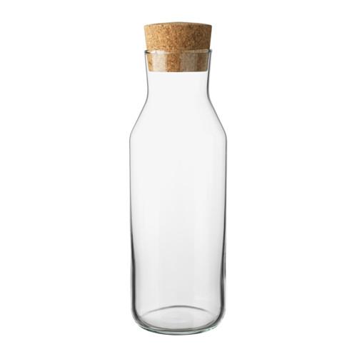 IKEA 365+ イケア カラフェ 栓付き, クリアガラス, コルク 1L ピッチャー デキャンタ 水差し 702.797.20