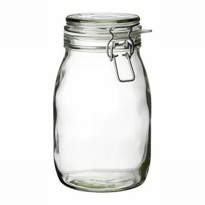 IKEA イケア KORKEN コルケンふた付き容器, クリアガラス1.8L(502.135.51)