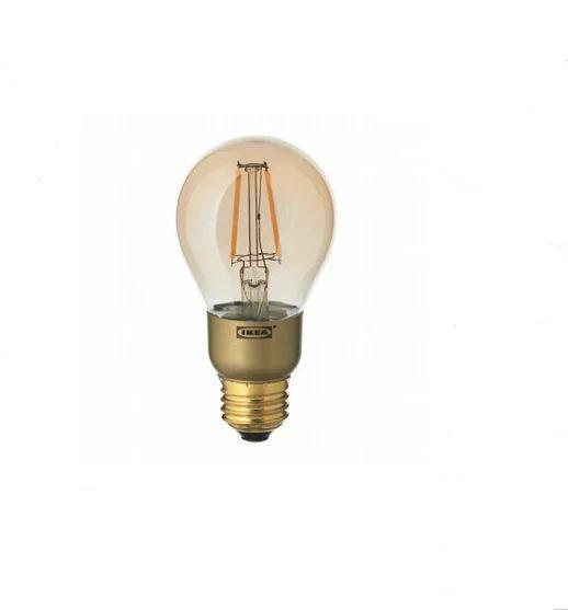 IKEA LUNNOM イケア LED電球 E26 400ルーメン, 調光対応, 球形 ブラウンクリアガラス 703.450.27 レトロ電球